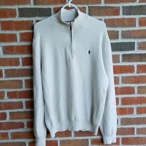 Polo Ralph Lauren 1/4 zip White Thermal Sweater